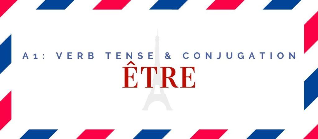 être conjugation in the present tense