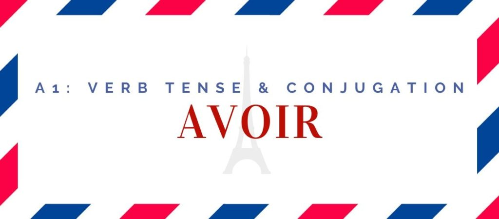 avoir conjugation in the present tense