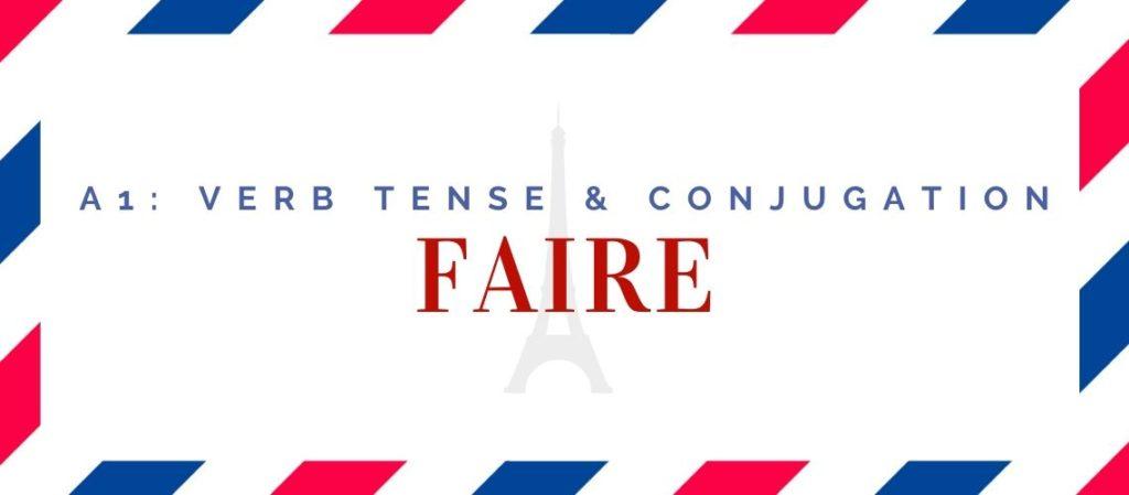 faire conjugation in the present tense
