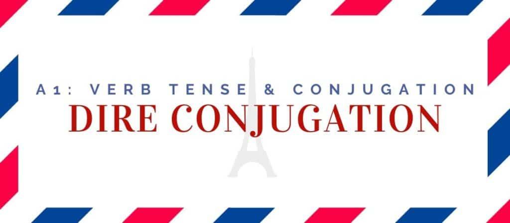 dire conjugation in the present tense