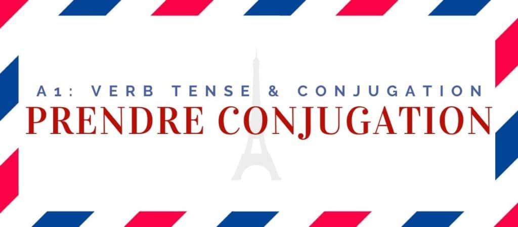 prendre conjugation in the present tense