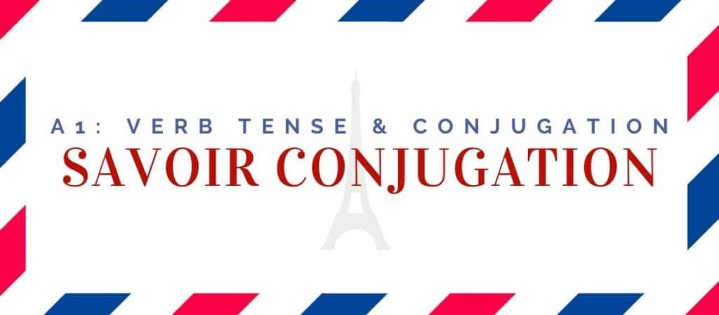 savoir conjugation in the present tense