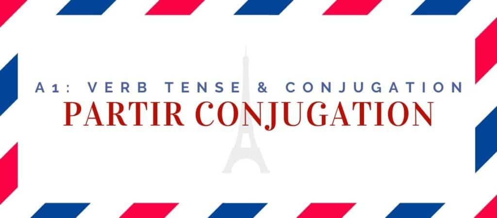 partir conjugation in the present tense