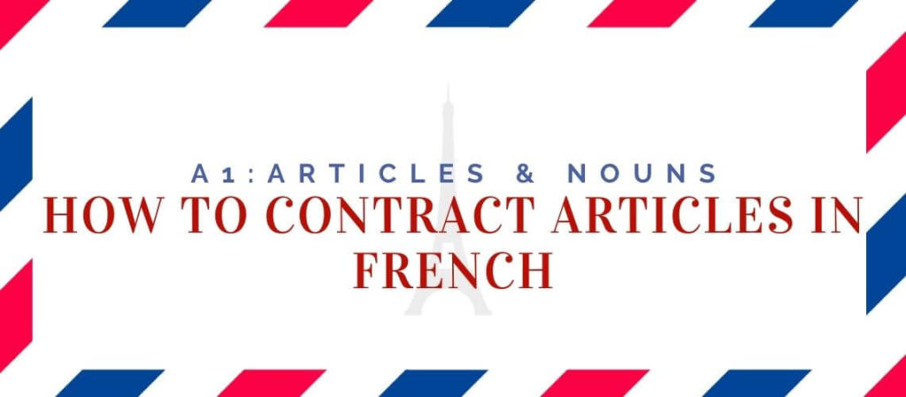 how to contract articles in french