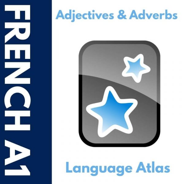 French A1 Adjectives and Adverbs Anki Deck Cover 1