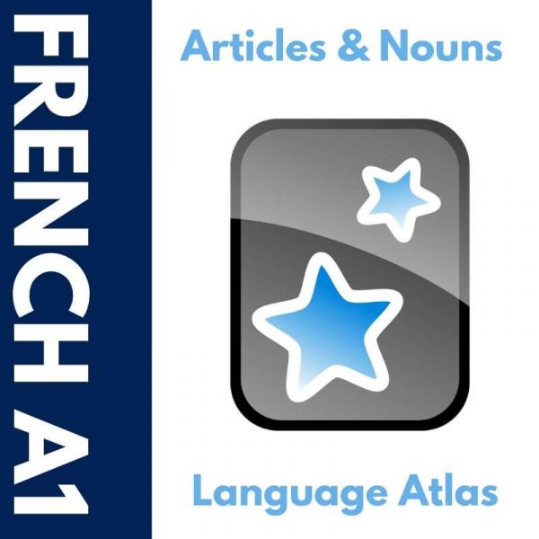 French A1 Articles and Nouns Anki Deck Cover