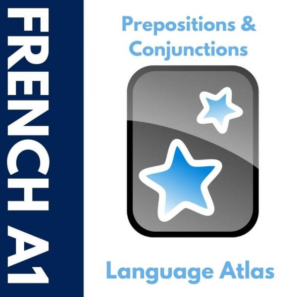 French A1 Prepositions and Conjunctions Anki Deck Cover