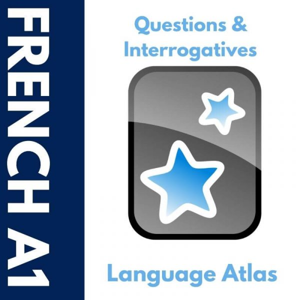 French A1 Questions and Interrogatives Anki Deck Cover