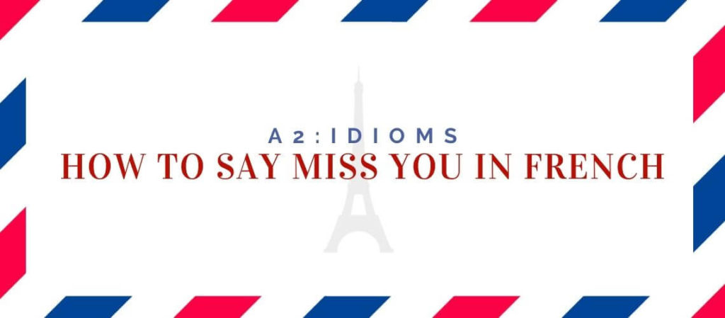 How to say Miss You in French