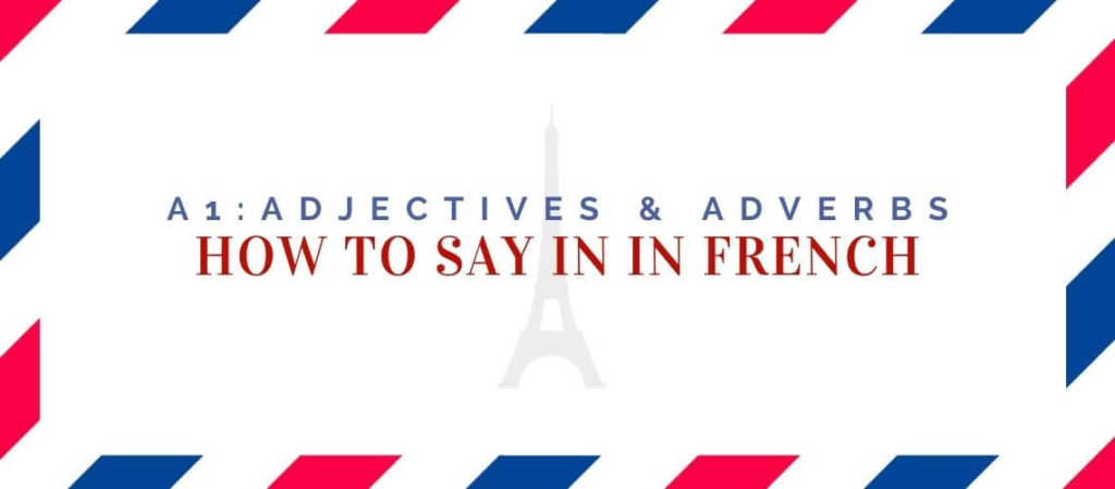 how to say in in french