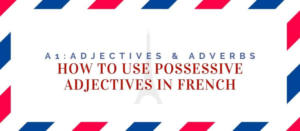 how to use possessive adjectives in french