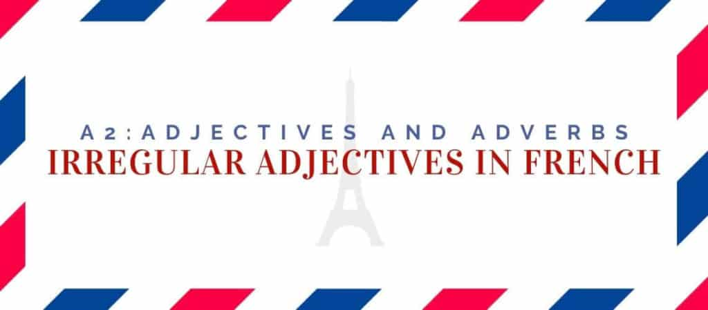 Irregular Adjectives in French