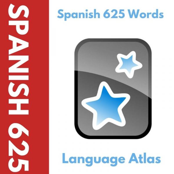 Spanish 625 Most Common Words Anki Deck Cover